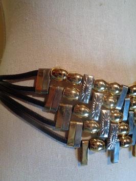 Ceinture fils de cuir et métal