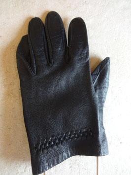 Gants cuir noirs 60's