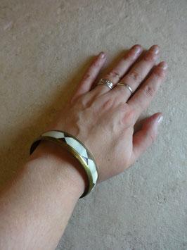 Bracelet nacre et corne losanges