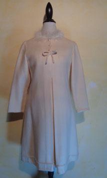 Robe laine blanche 60's T.38