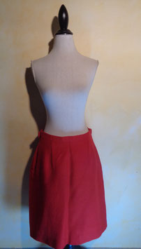 Jupe rouge 70's T.38