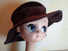 Chapeau velours marron