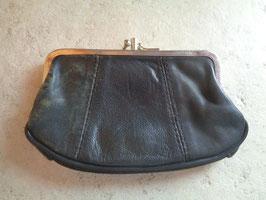 Porte monnie cuir noir