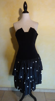Robe bustier pois 80's T.36