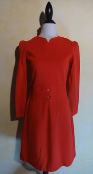 Robe laine rouge 60's T.38