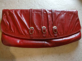 Pochette rouge cuir 80's