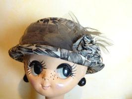 Chapeau gris fleur 50's