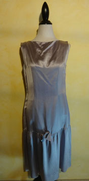 Robe satin bleu 50's T.38