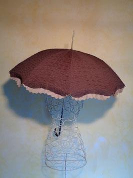Parapluie marron 50's