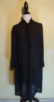 Robe voile noir 70's T.42
