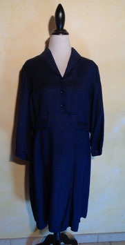 Robe laine rayée 50's T.42