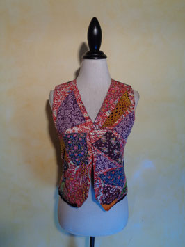 Gilet patchwork 80's T.36