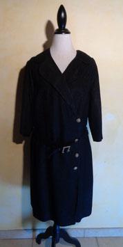 Manteau noir 50's T.40