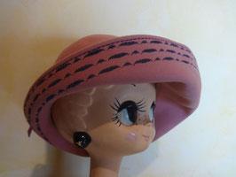 Chapeau rose 60's