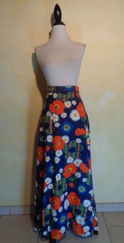 Jupe power flower 70's T.36