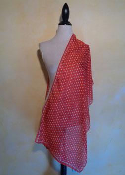 Foulard pois rouge