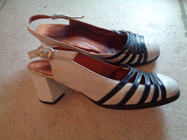 Sandales bi-colores 60's P.38