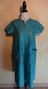 Robe turquoise et dorée 50's T.40