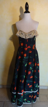 Robe bustier coquelicot 70's T.36