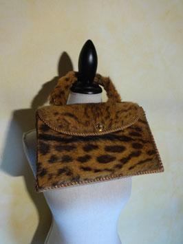 Sac à main léopard 50's