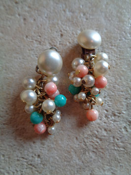 Clips perles 60's