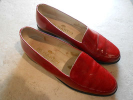Slippers vernies rouges JB Martin P.37
