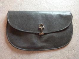 Pochette cuir gris