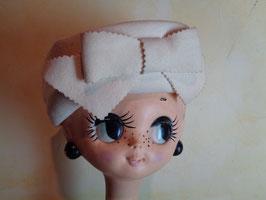 Chapeau à noeud blanc 60's