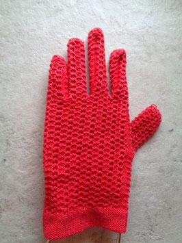 Gants crochet rouges 50's