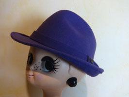 Chapeau feutre violet 60's