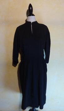 Robe jersey noire 70's T.38