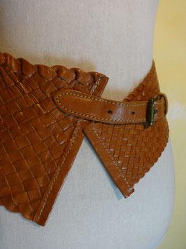 Large ceinture cuir tressé