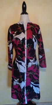 Robe fleurs graphiques 70's T.40