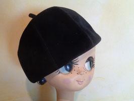 Chapeau velours de laine 60's