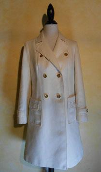 Manteau blanc 60's T.38