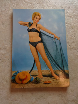 Carte postale Pin Up filet 60's