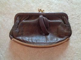Porte monnaie cuir marron 60's