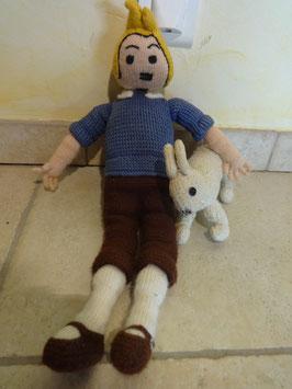Tintin et Milou tricotés