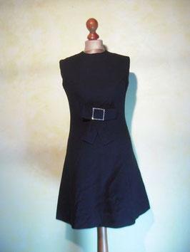 Robe trapèze noire 60's T.40