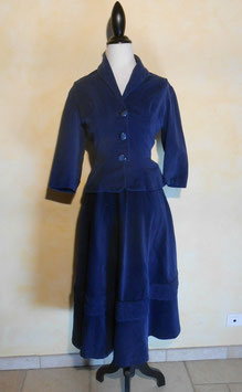 Ensemble velours 50's T.36