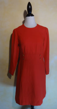Robe rouge 60's T.38