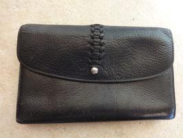 Portefeuille cuir noir Pourchet