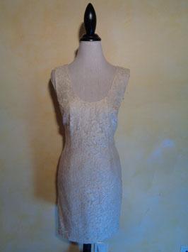 Robe dentelle blanche 60's T.36