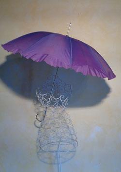 Parapluie violet 60's