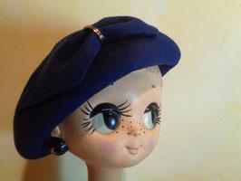 Chapeau laine bleu