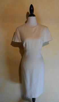 Robe blanche laine 60's T.36