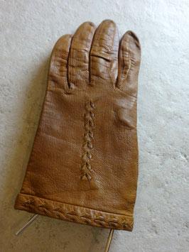 Gants cuir marrons 70's