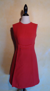 Robe trapèze rouge 60's T.36