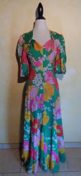 Robe longue fleurie 70's T.36