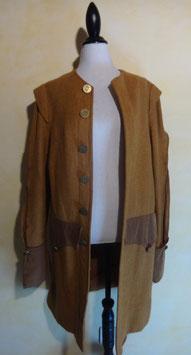 Manteau laine marron 70's T.40